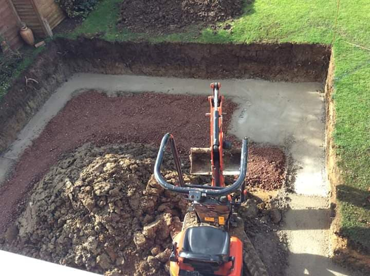 picture of Groundworks services ags builders northamptonshire