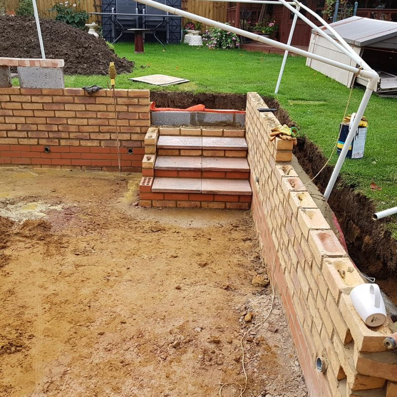 picture of a specialist brickwork build northamptonshire brick laying 2