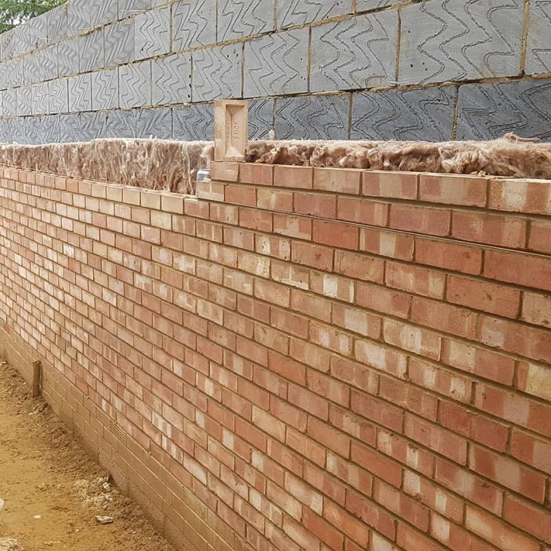 picture of exterior kitchen brickwork domestic build northamptonshire brick laying